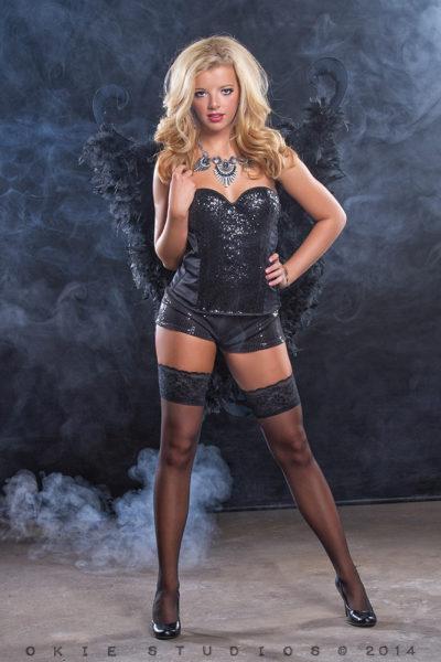Black background with smoke Machine
